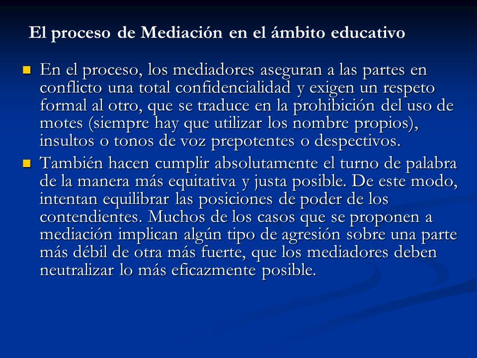 El proceso de Mediación en el ámbito educativo