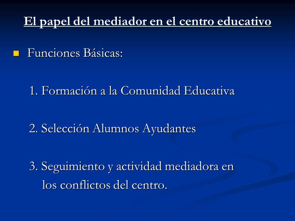 El papel del mediador en el centro educativo