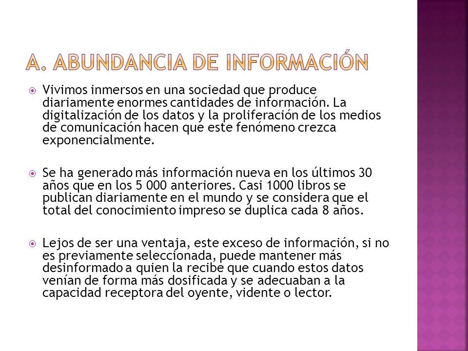 a. Abundancia de información