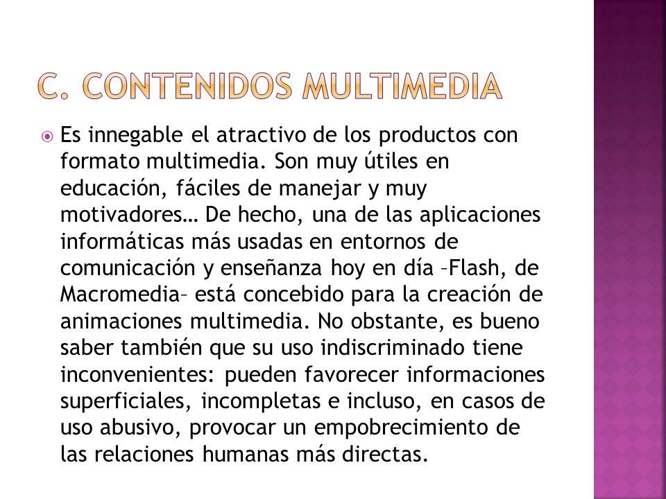 c. Contenidos multimedia