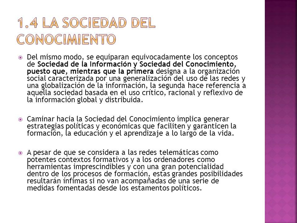 1.4 La sociedad del conocimiento