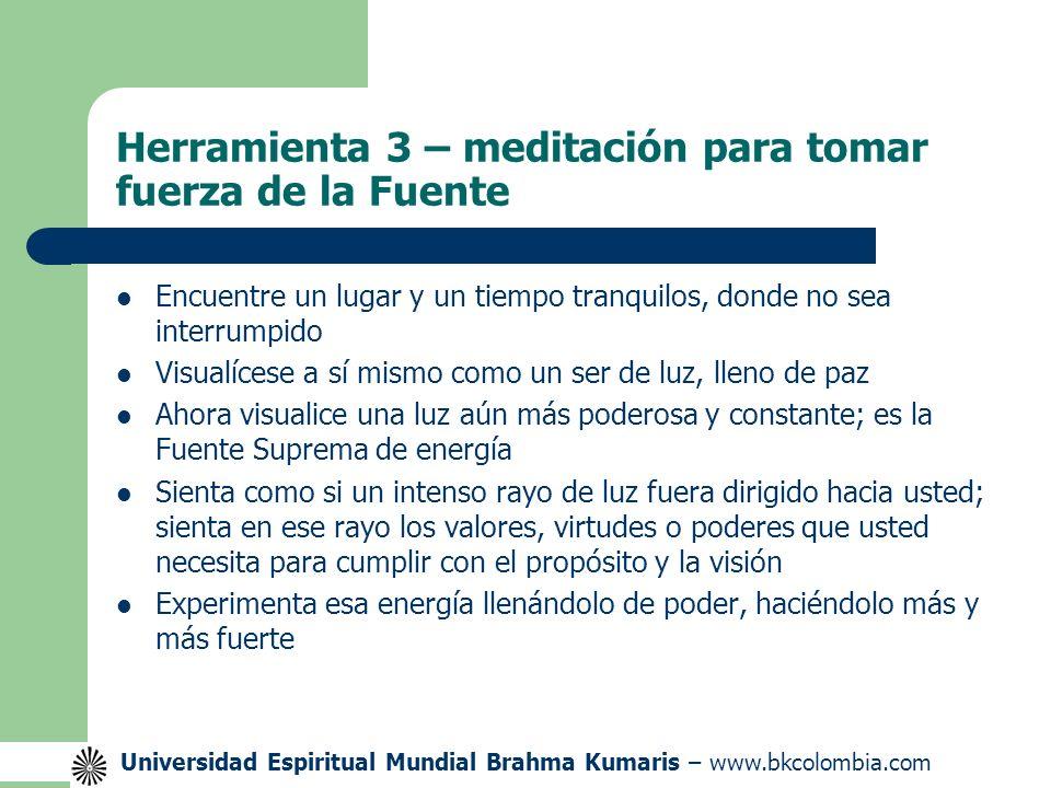 Herramienta 3 – meditación para tomar fuerza de la Fuente
