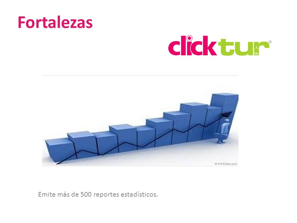 Fortalezas Emite más de 500 reportes estadísticos. 22 22