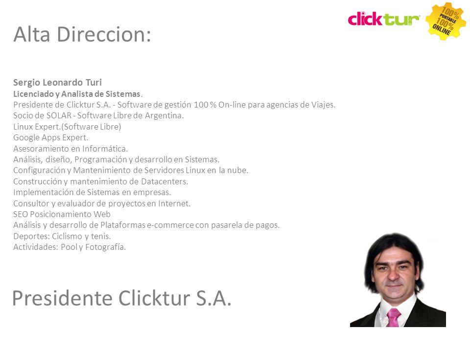 Presidente Clicktur S.A.