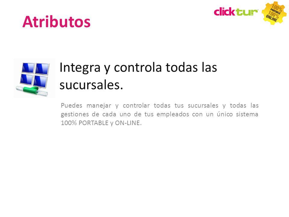 Atributos Integra y controla todas las sucursales.