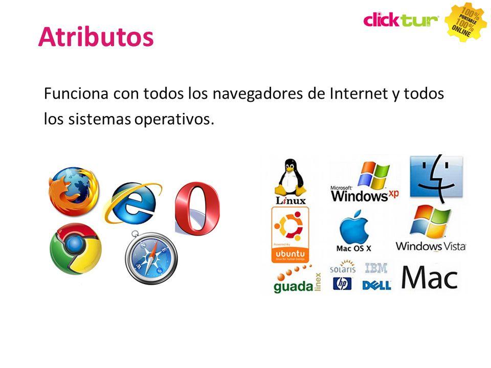 Atributos Funciona con todos los navegadores de Internet y todos los sistemas operativos. 35 35