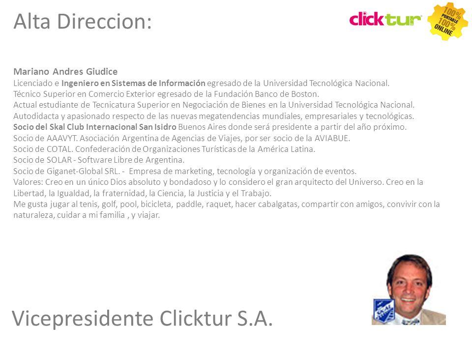 Vicepresidente Clicktur S.A.