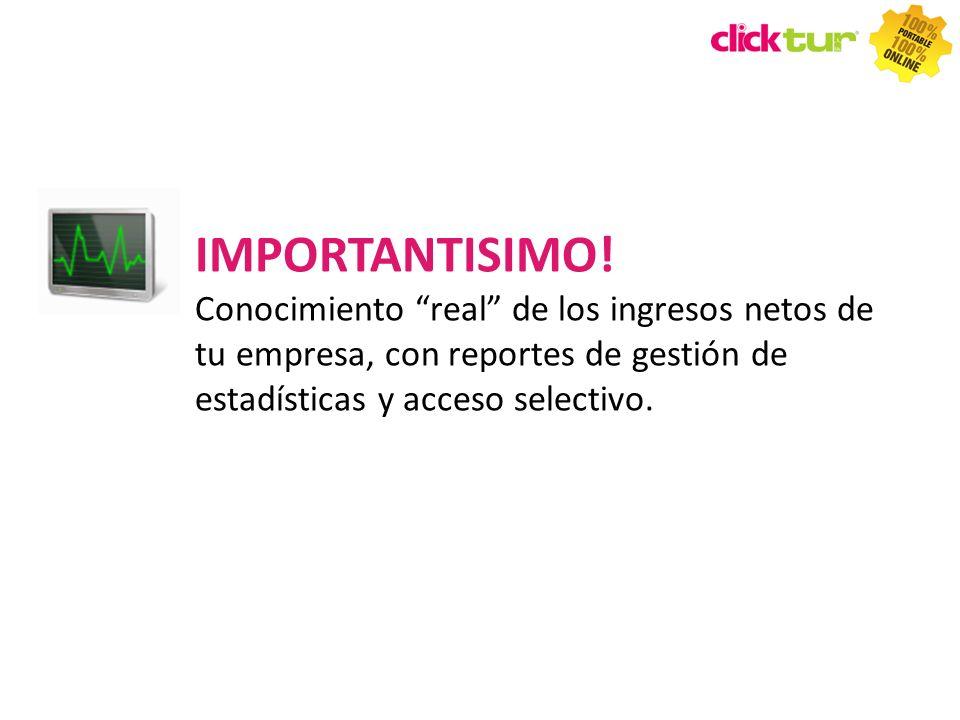 IMPORTANTISIMO! Conocimiento real de los ingresos netos de tu empresa, con reportes de gestión de estadísticas y acceso selectivo.