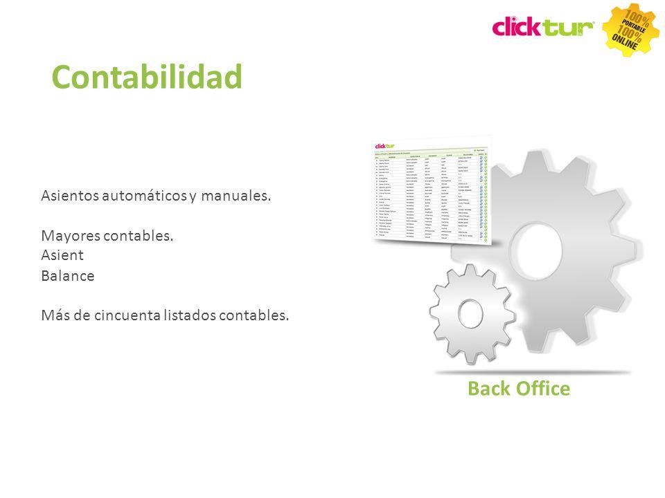 Contabilidad Back Office Asientos automáticos y manuales.