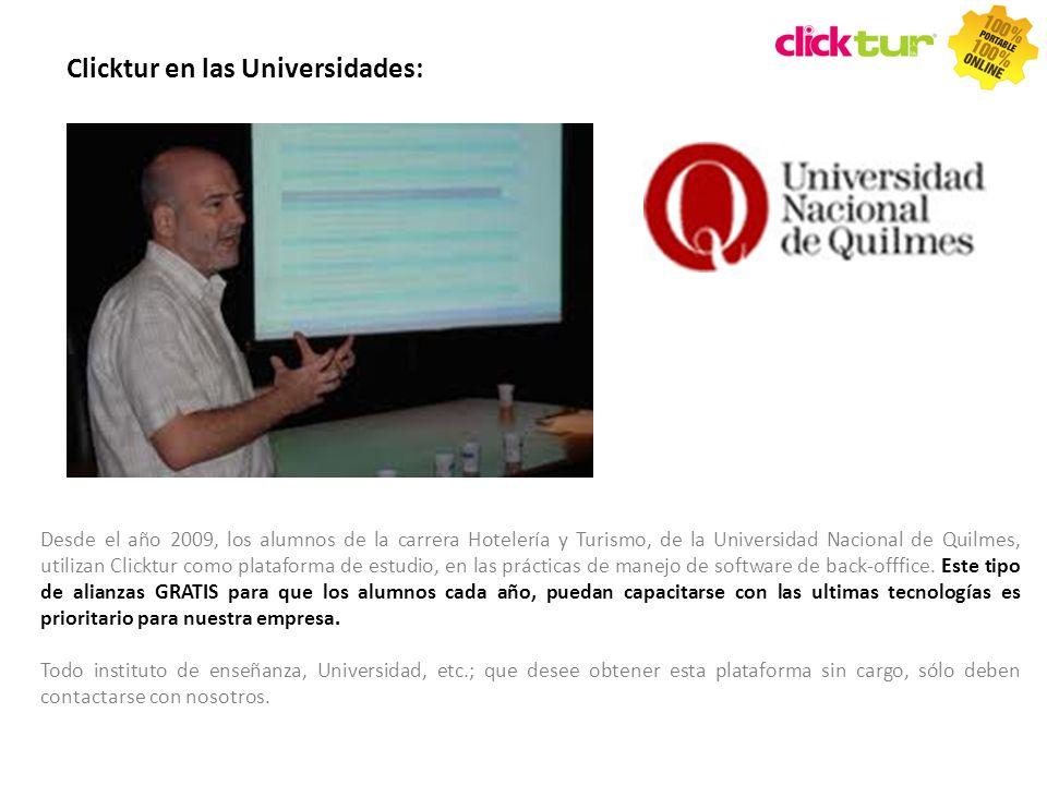 Clicktur en las Universidades: