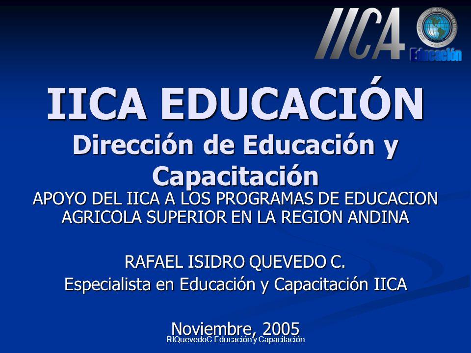 IICA EDUCACIÓN Dirección de Educación y Capacitación