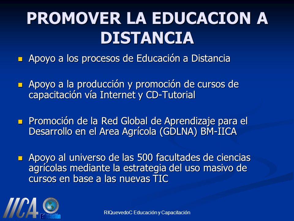 PROMOVER LA EDUCACION A DISTANCIA
