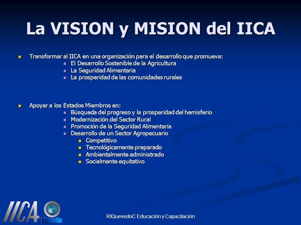 La VISION y MISION del IICA