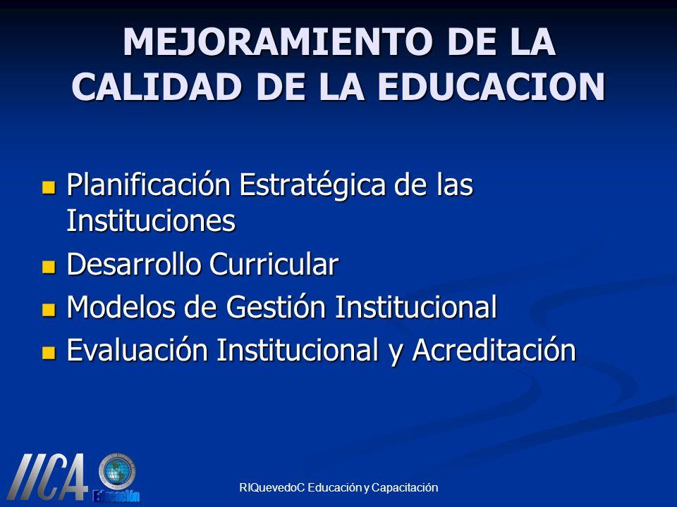 MEJORAMIENTO DE LA CALIDAD DE LA EDUCACION