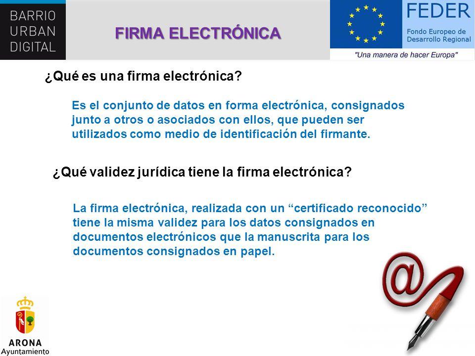 FIRMA ELECTRÓNICA ¿Qué es una firma electrónica