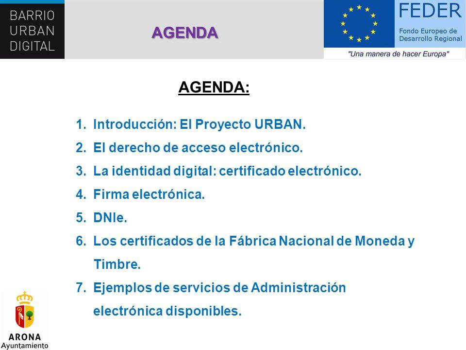 AGENDA AGENDA: Introducción: El Proyecto URBAN.