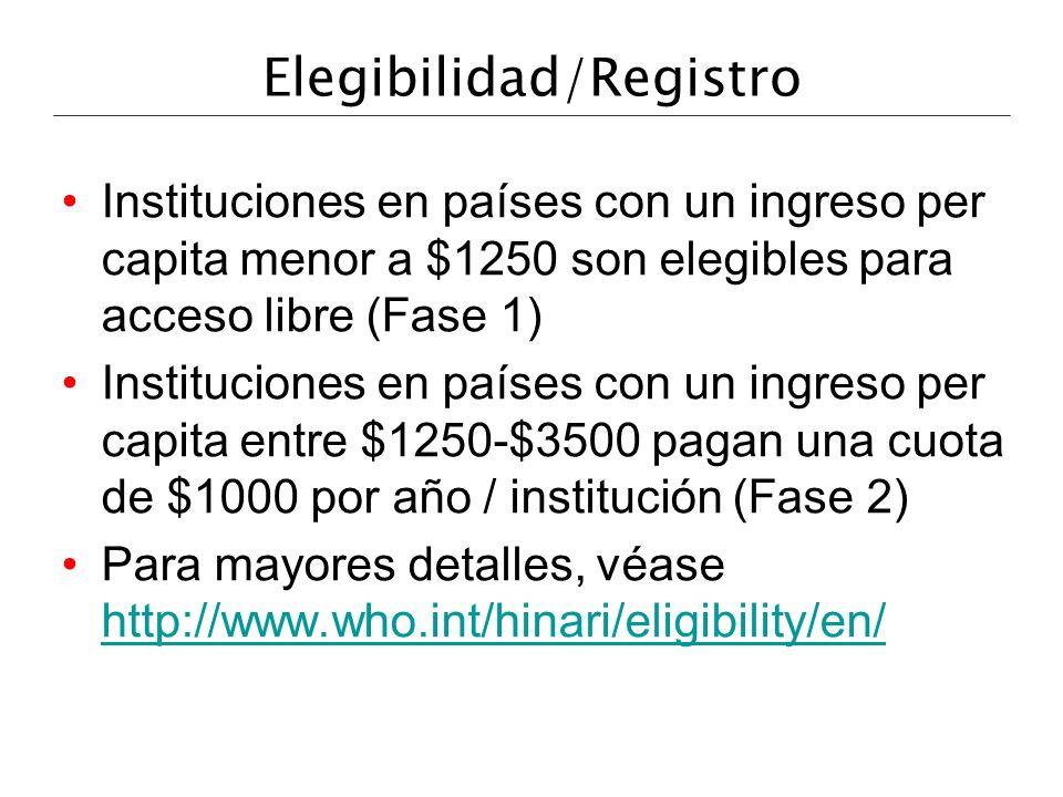 Elegibilidad/Registro