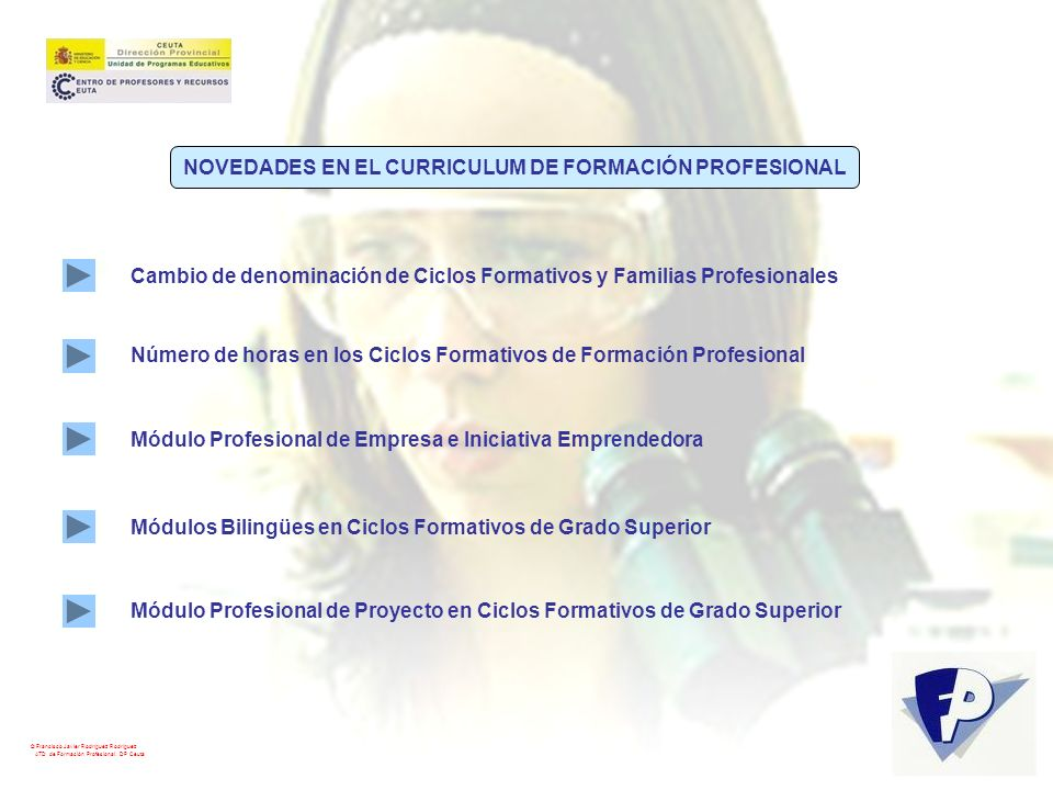 NOVEDADES EN EL CURRICULUM DE FORMACIÓN PROFESIONAL