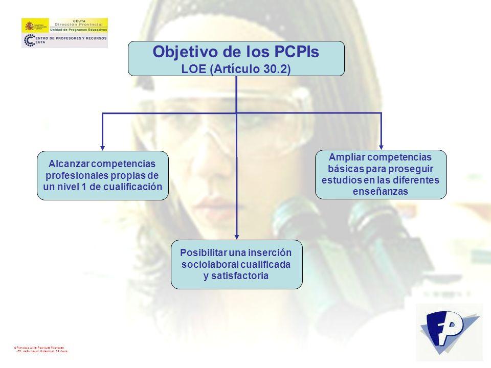 Objetivo de los PCPIs LOE (Artículo 30.2) Ampliar competencias