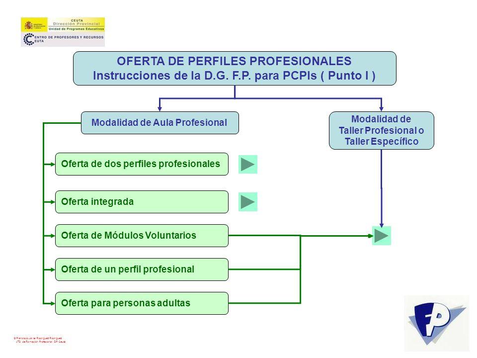 OFERTA DE PERFILES PROFESIONALES