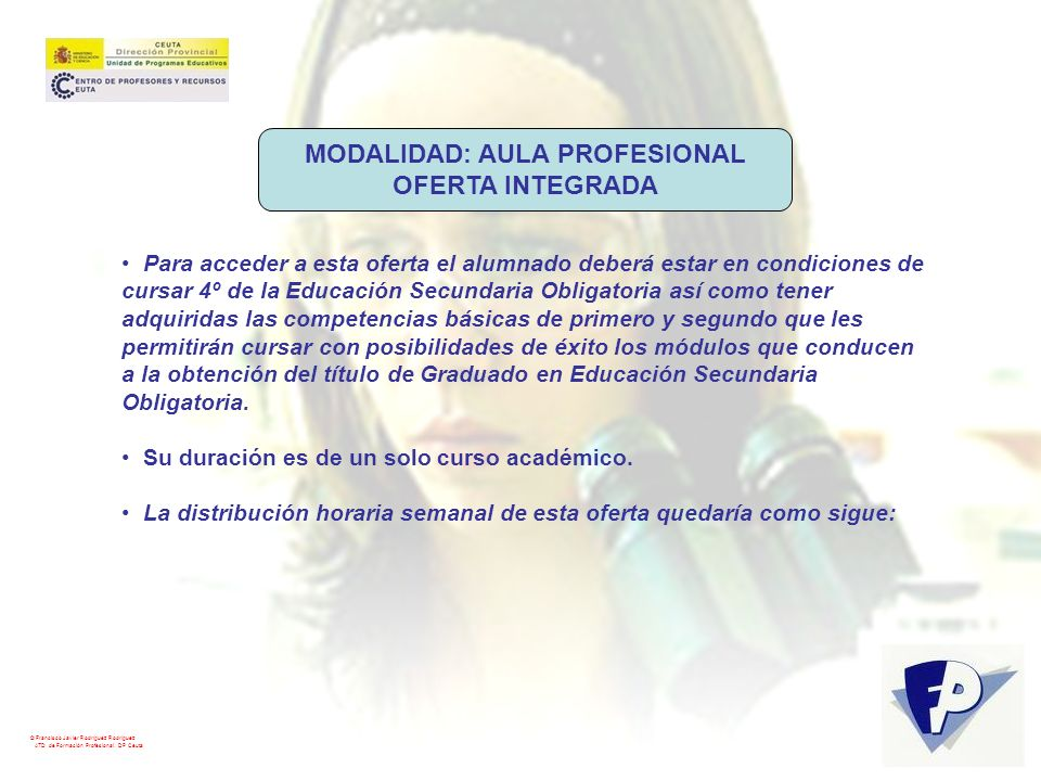 MODALIDAD: AULA PROFESIONAL
