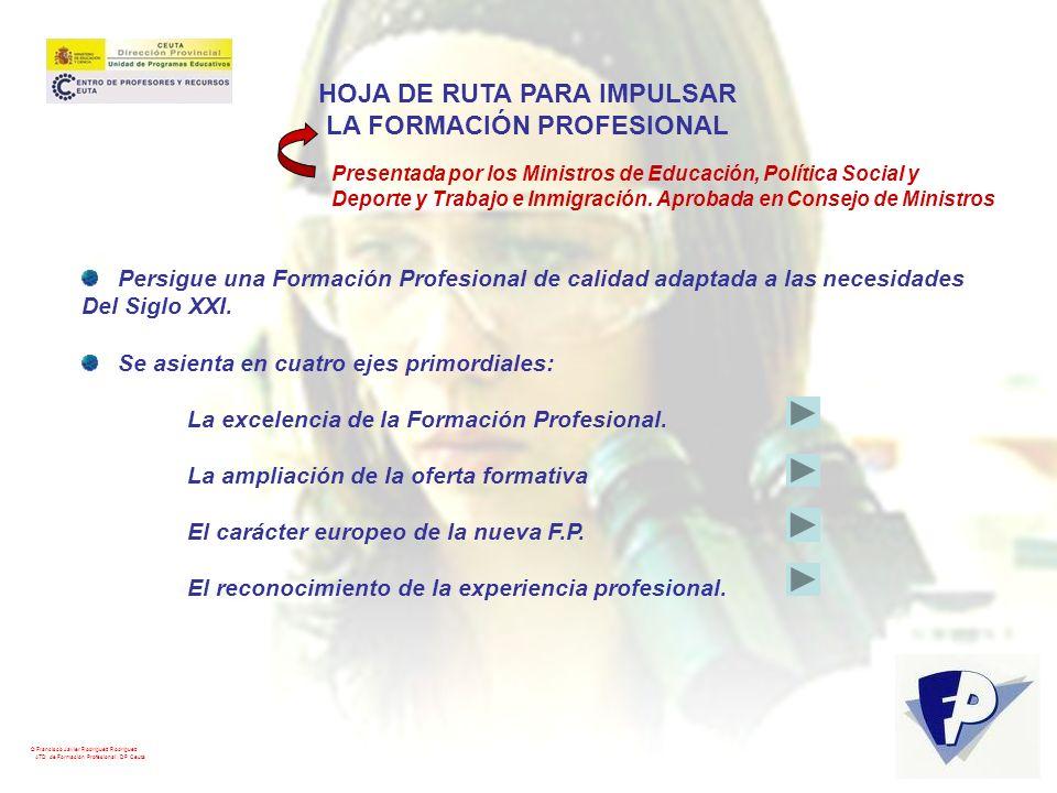 HOJA DE RUTA PARA IMPULSAR LA FORMACIÓN PROFESIONAL