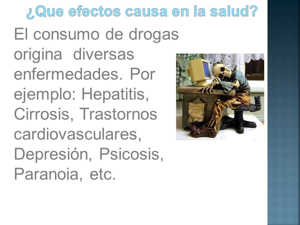 ¿Que efectos causa en la salud
