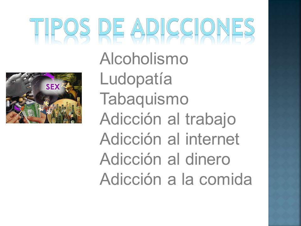 Tipos DE ADICCIONES Alcoholismo Ludopatía Tabaquismo
