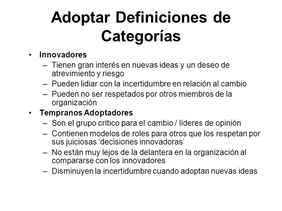 Adoptar Definiciones de Categorías