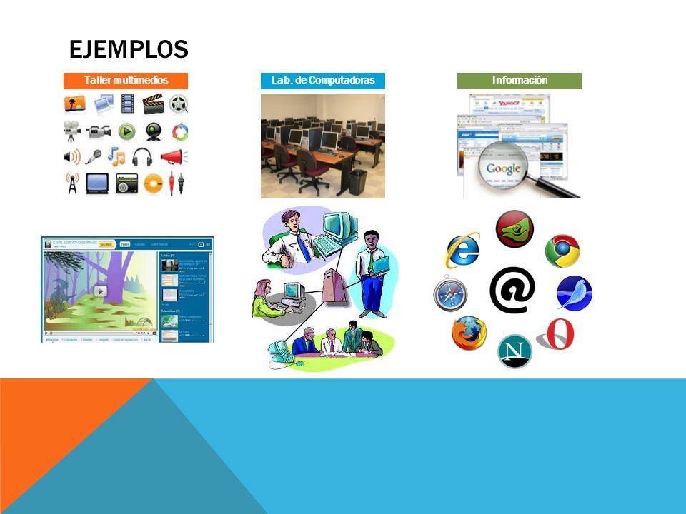 Taller multimedios Lab. de Computadoras Información Ejemplos