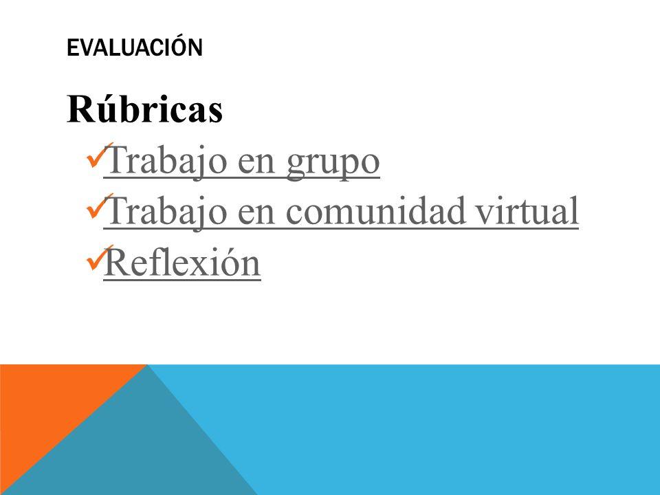 Trabajo en comunidad virtual Reflexión