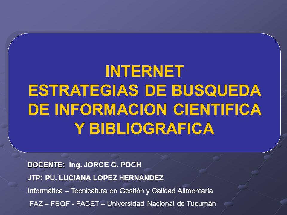 ESTRATEGIAS DE BUSQUEDA DE INFORMACION CIENTIFICA