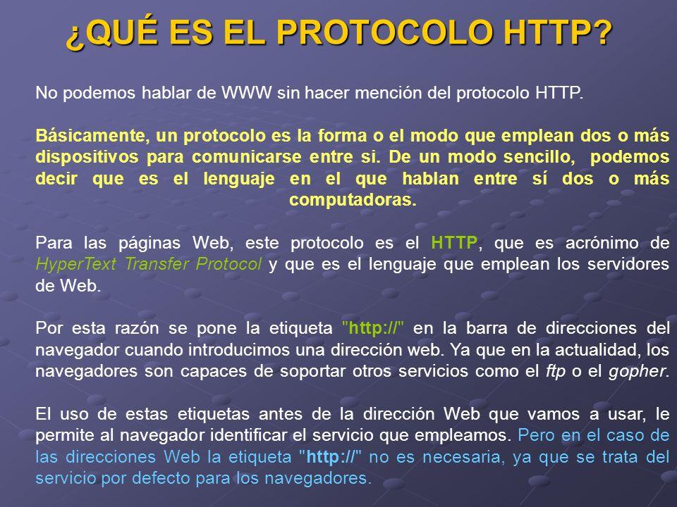 ¿QUÉ ES EL PROTOCOLO HTTP