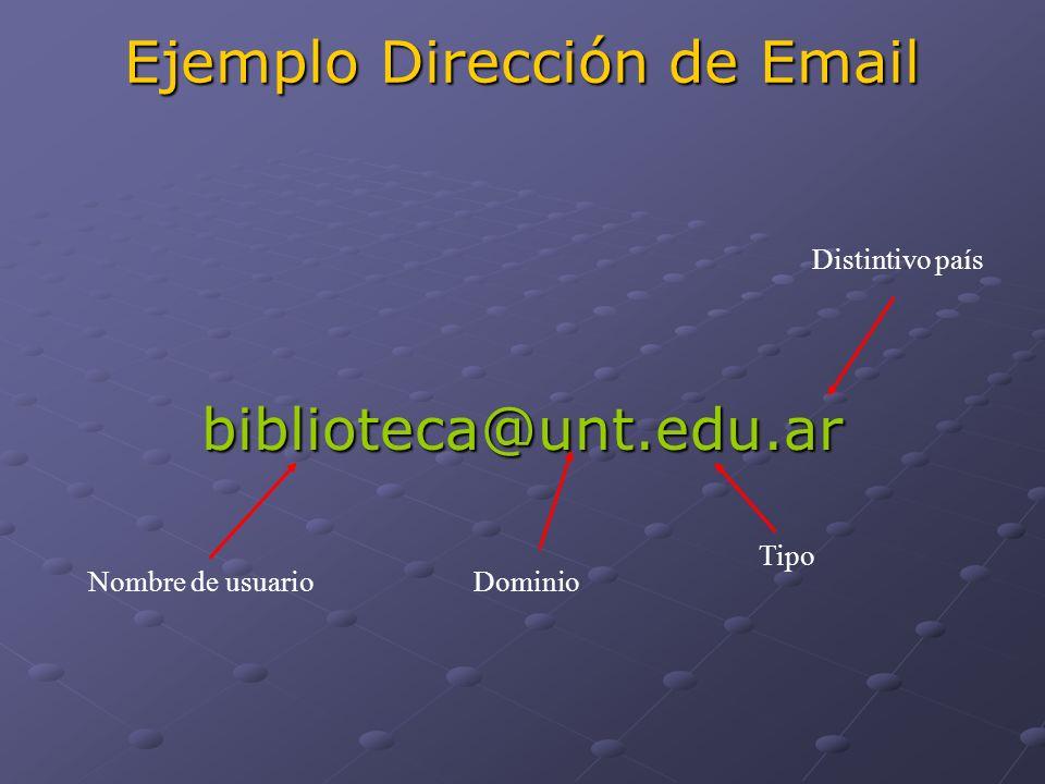 Ejemplo Dirección de Email