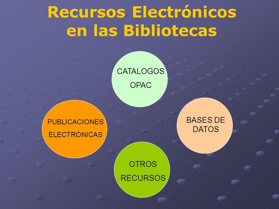 Recursos Electrónicos en las Bibliotecas