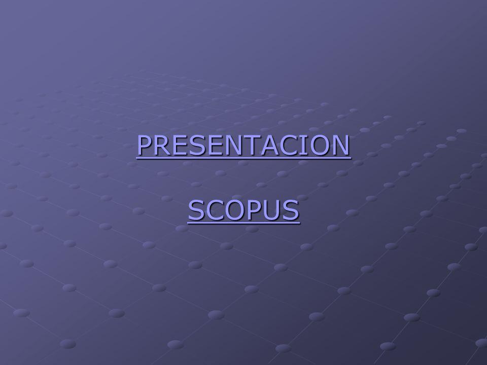 PRESENTACION SCOPUS
