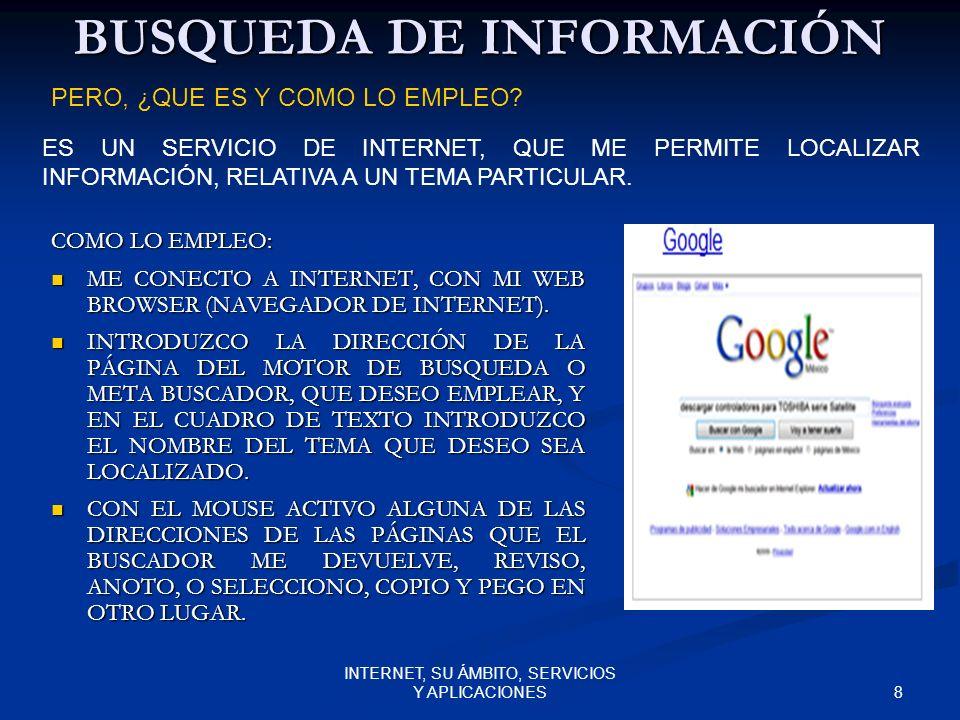BUSQUEDA DE INFORMACIÓN