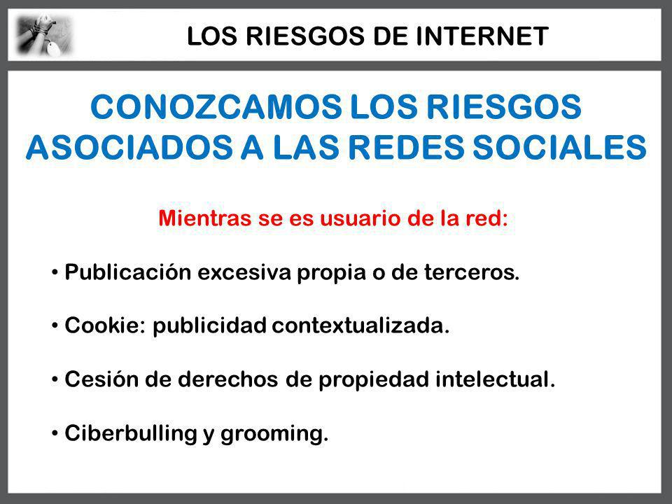 CONOZCAMOS LOS RIESGOS ASOCIADOS A LAS REDES SOCIALES