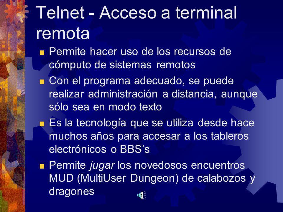 Telnet - Acceso a terminal remota
