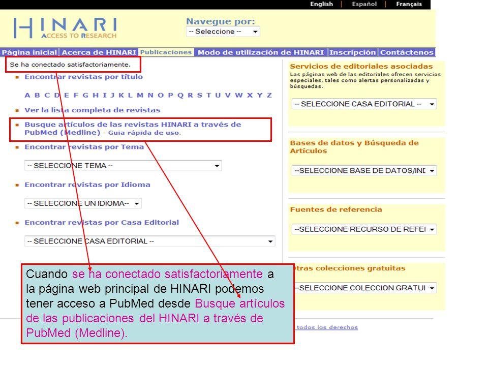 Main HINARI webpage