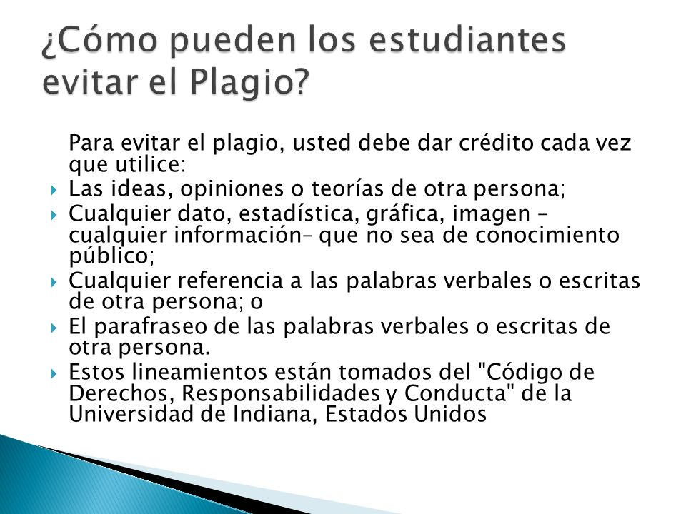 ¿Cómo pueden los estudiantes evitar el Plagio