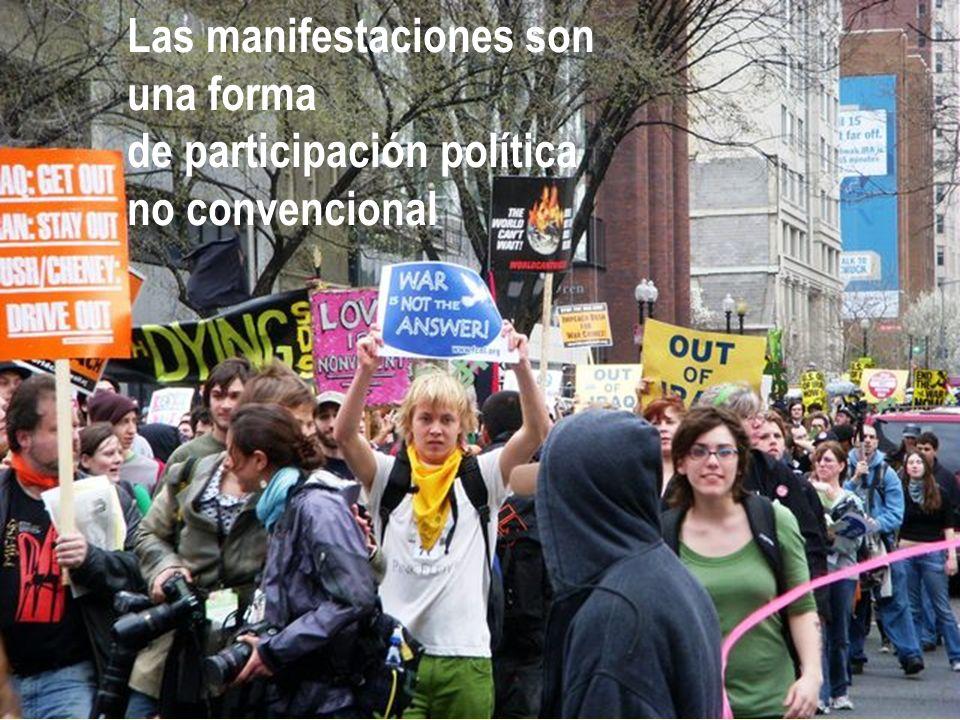 Las manifestaciones son una forma