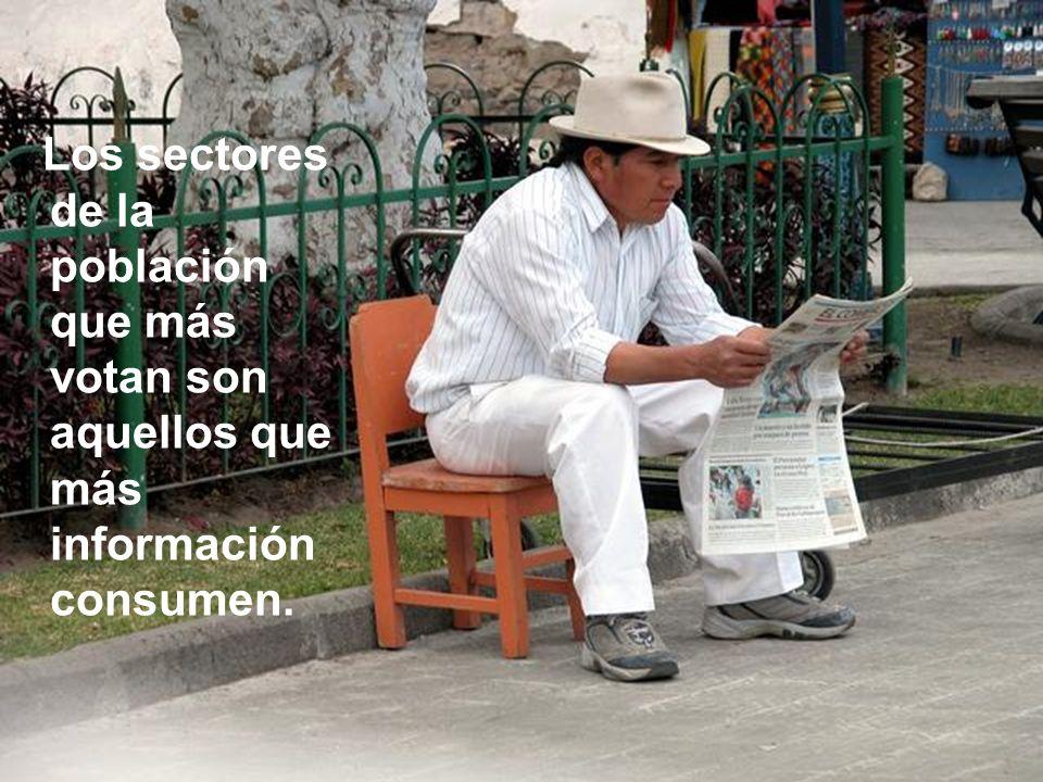 Los sectores de la población que más votan son aquellos que más información consumen.
