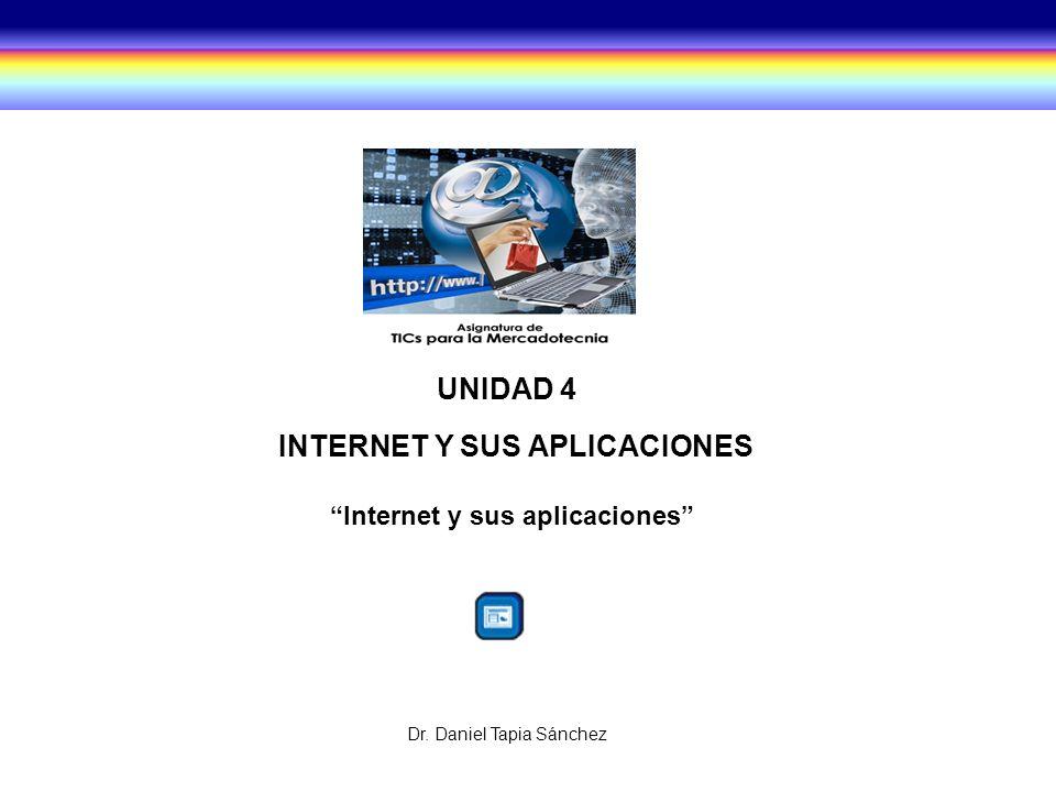 INTERNET Y SUS APLICACIONES Internet y sus aplicaciones