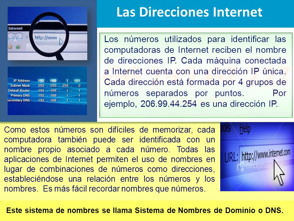 Las Direcciones Internet