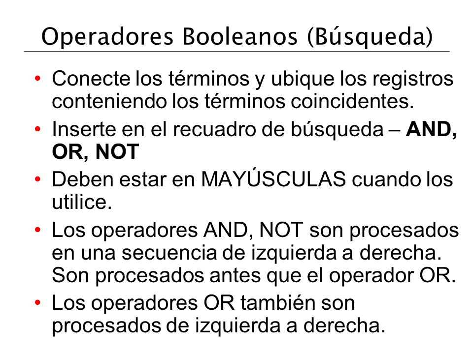 Operadores Booleanos (Búsqueda)