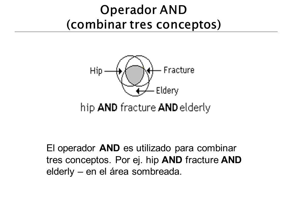 Operador AND (combinar tres conceptos)