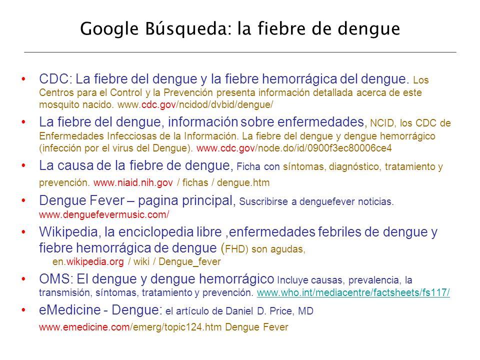 Google Búsqueda: la fiebre de dengue