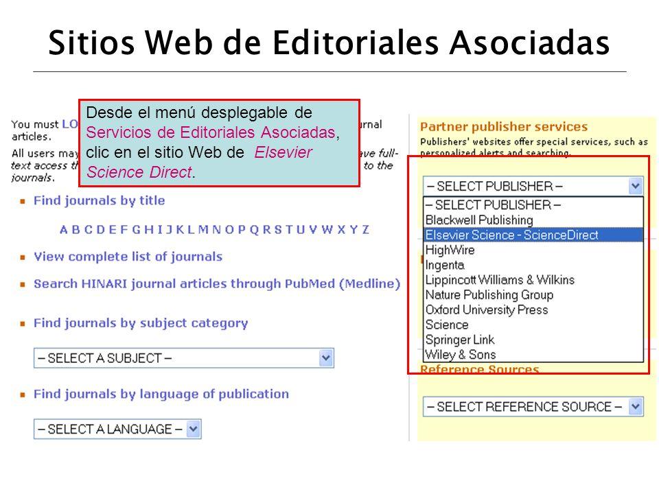 Sitios Web de Editoriales Asociadas