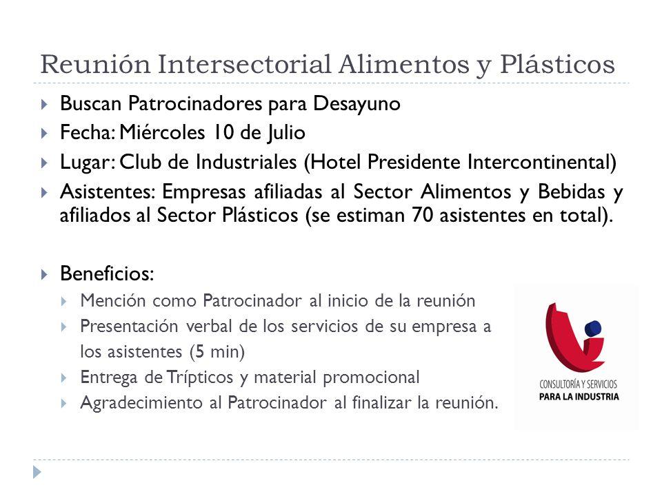 Reunión Intersectorial Alimentos y Plásticos